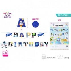 napis happy birthday 4.5m
