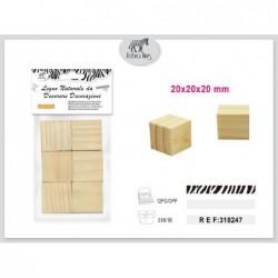 lesena kocka 6kom/20mm