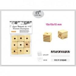lesena kocka 9kom/15mm