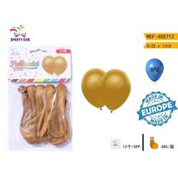 zlati balon 24cm/8kom