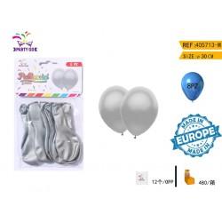 srebrni baloni 24cm/8kom