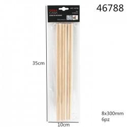 lesene palčke 6kom/8*300mm