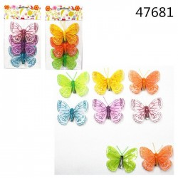 okrasni metuljčki 3kom