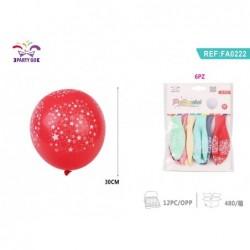 balon zvezda 6kom/30cm