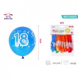 balon št.18 30cm/6kom
