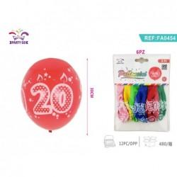 balon št.20 30cm/6kom