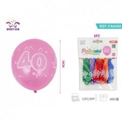 balon št.40 30cm/6kom