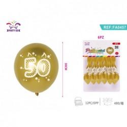 balon št.50 30cm/6kom