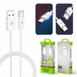 USB kabel tipe C 3A/1m
