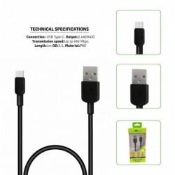 USB kabel tipe C 1m/2.4A