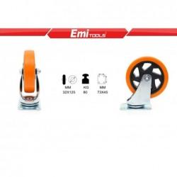 kolešček oranžna 125mm