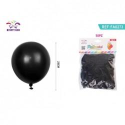 baloni 50kom črna